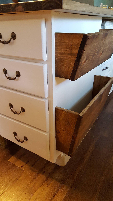 Rustic Wood Bins Potato Onion Kitchen Bathroom Bedroom Storage By Ourlittlecountry On Etsy