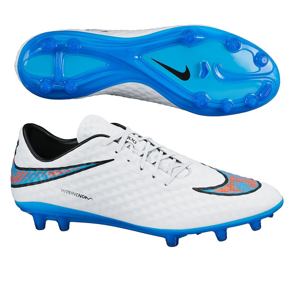 Nike Hypervenom Phantom FG Soccer Cleats (White/Crimson ...