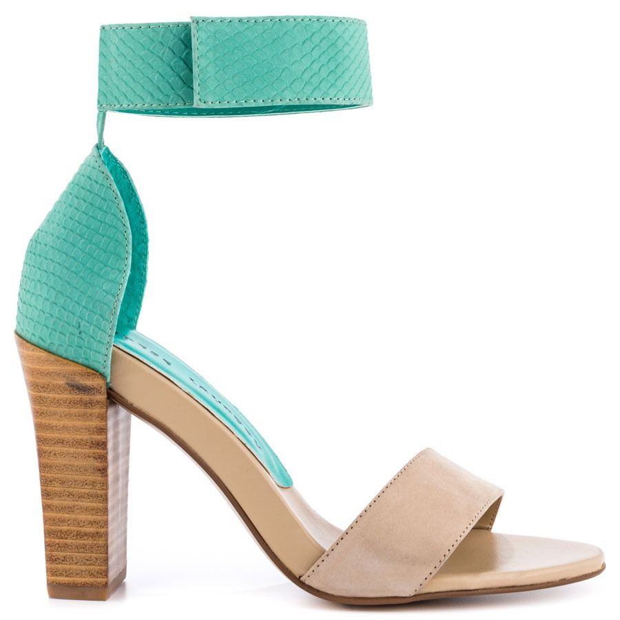 2444bc9ddc00 Balance heels Nat Teal Nubuck brand heels Chinese Laundry