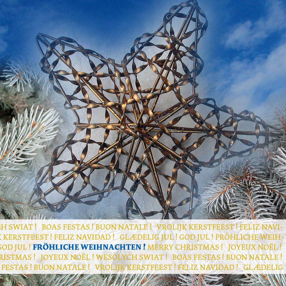 """Schöne Weihnachtskarte """"Stern"""", winterliches Fotomotiv auf dem Titel ..."""