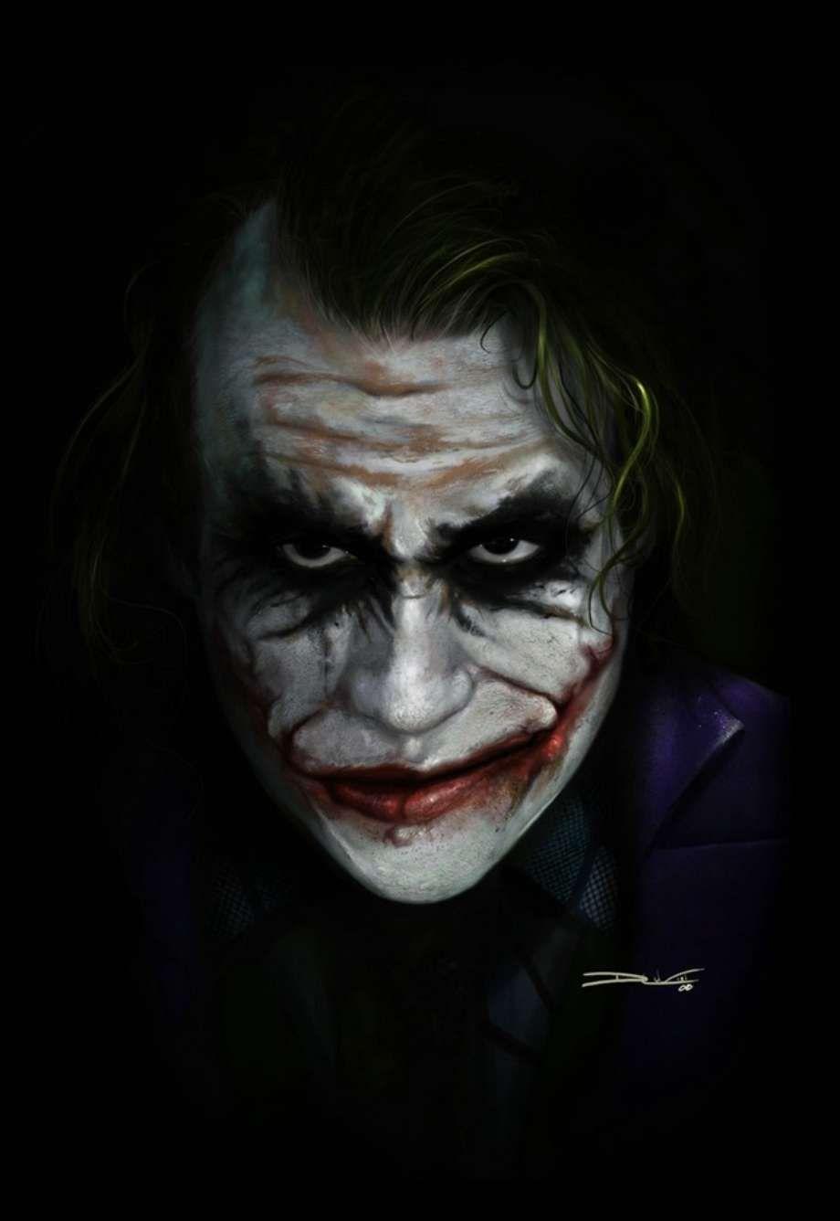 Digital Art By Dan Luvisi Joker Face Joker Face Paint Joker Art
