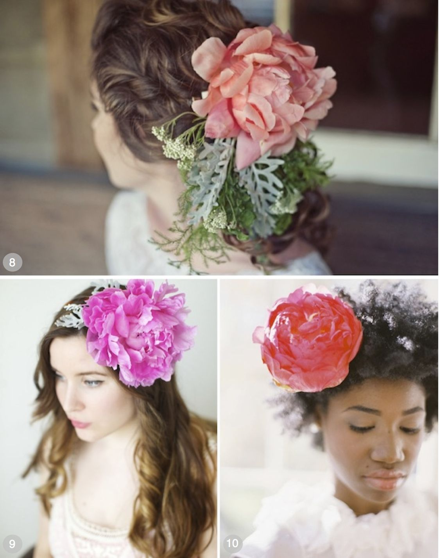 50 romantic wedding hairstyles using flowers peony weddings and bridal hair izmirmasajfo Gallery