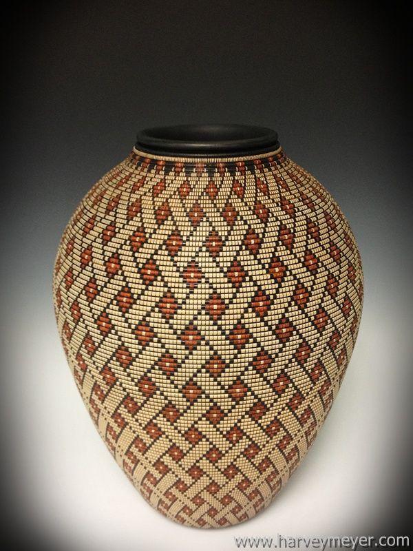 Basket Illusion Vessels Woodturning Pinterest