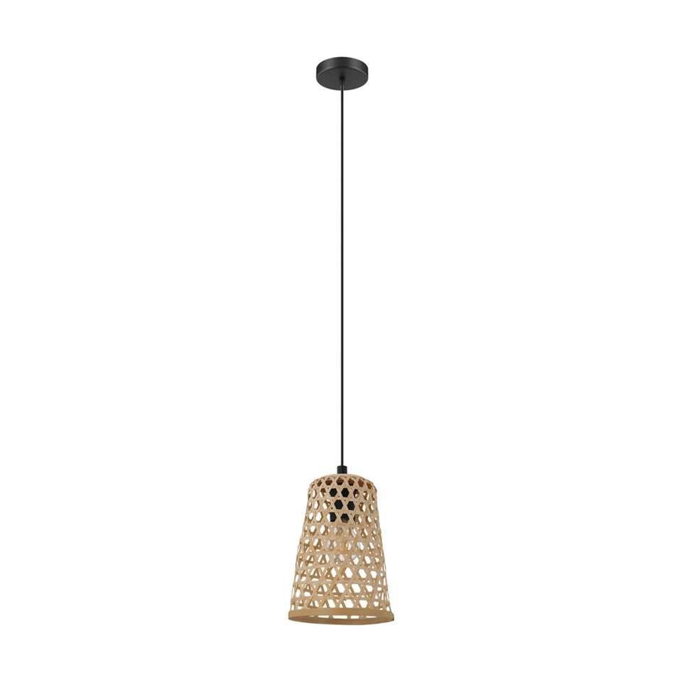 Eglo Hanglamp Claverdon 18 Cm Zwart Hout Hanglamp Hout Gloeilampen