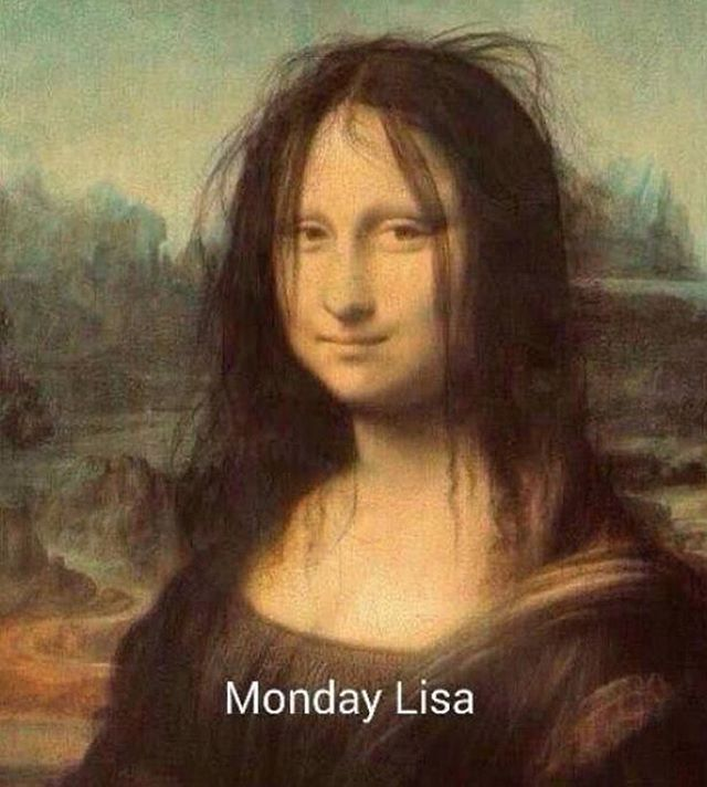 This made my day.  Via @9gag  #Monday #MonaLisa by Unknown