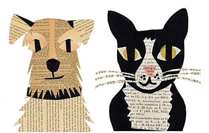 Simple And Fun Kids Paper Craft Ideas Dogs And Cats Appliques From