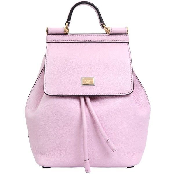 21a2dbf1b456 Dolce   Gabbana Women Sicily Grained Leather Mini Backpack ( 1