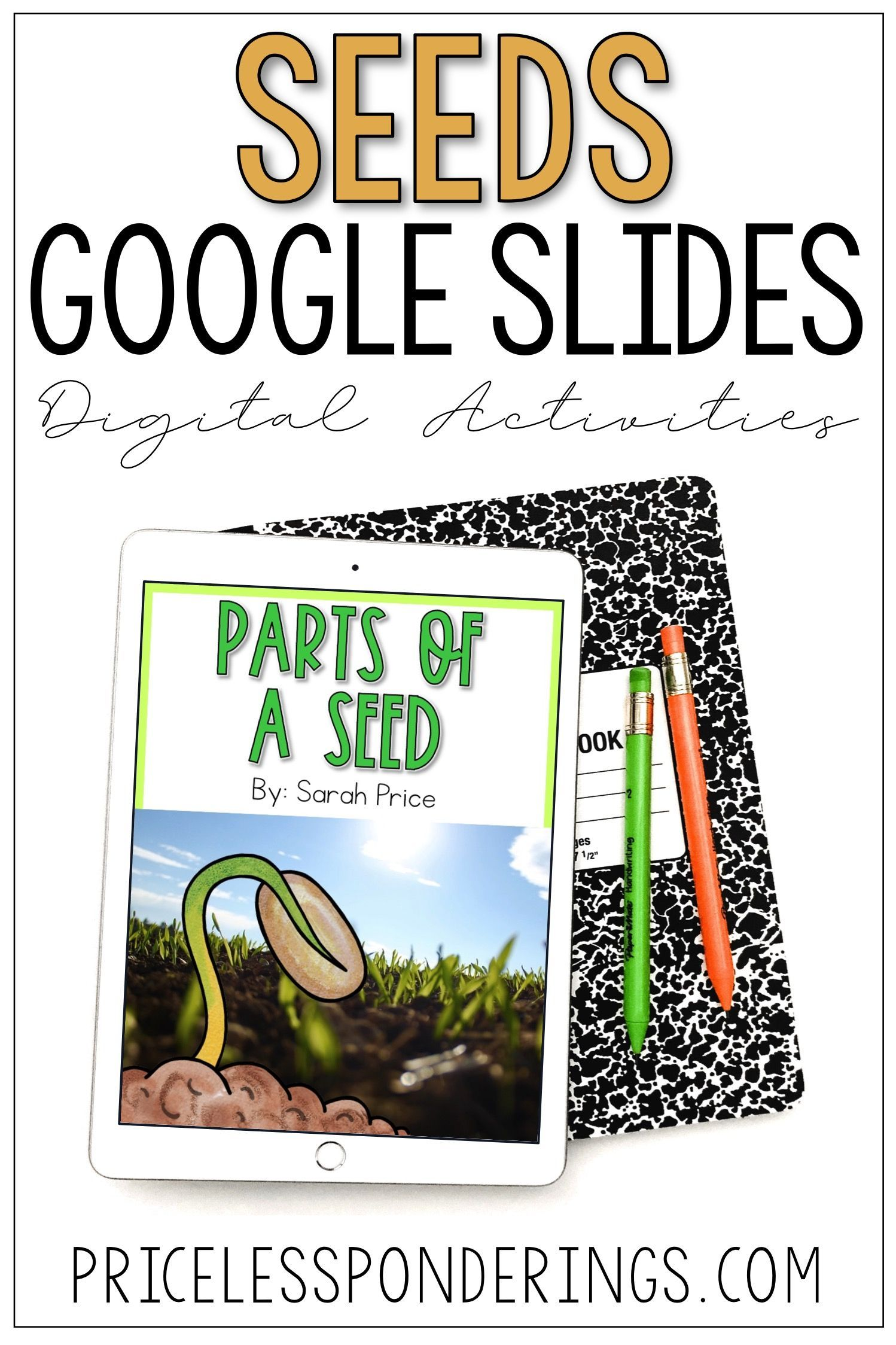 Parts of a Seed Activities for Google Slides | Interactive ...