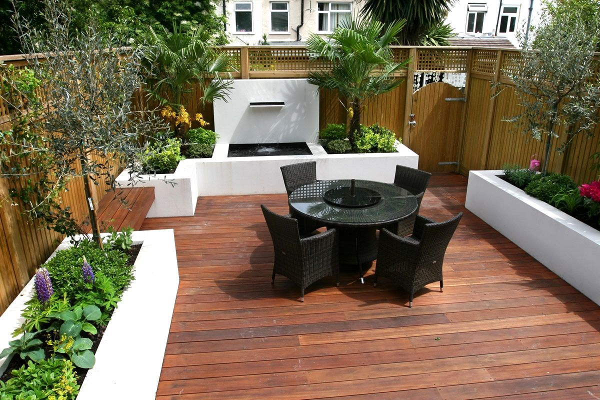 contemporary garden designs decking outdoor contemporary wooden