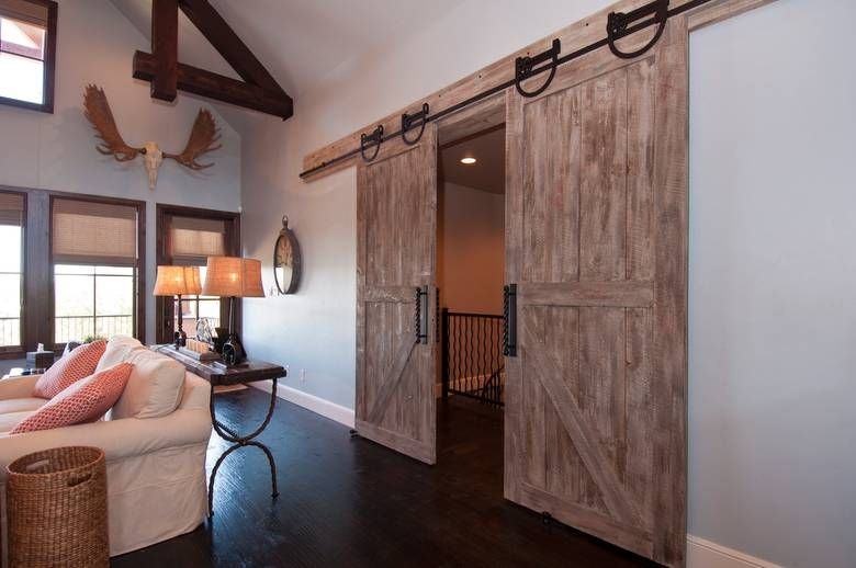 Attirant NatureAged Barnwood Gray Sliding Door (the Brown Accents Are The Backside  Of NatureAged Gray)