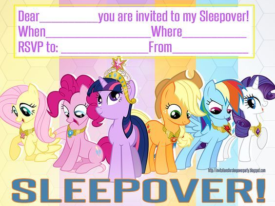 INVITATIONS FOR SLEEPOVER PARTY MY LITTLE PONY FREE PRINTABLE