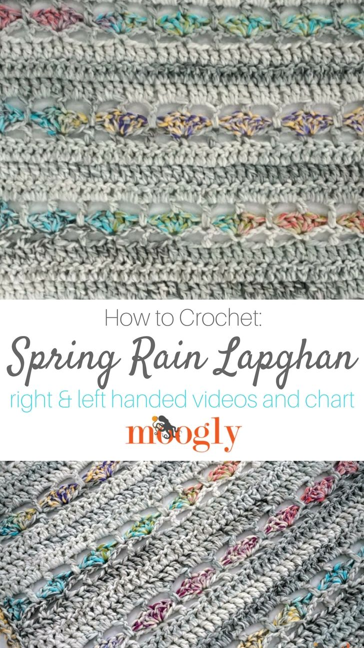 Spring Rain Lapghan Tutorial | Getting Hooked | Pinterest ...