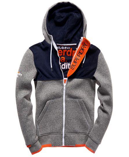Superdry Scuba Zip Hoodie Grey | Polar