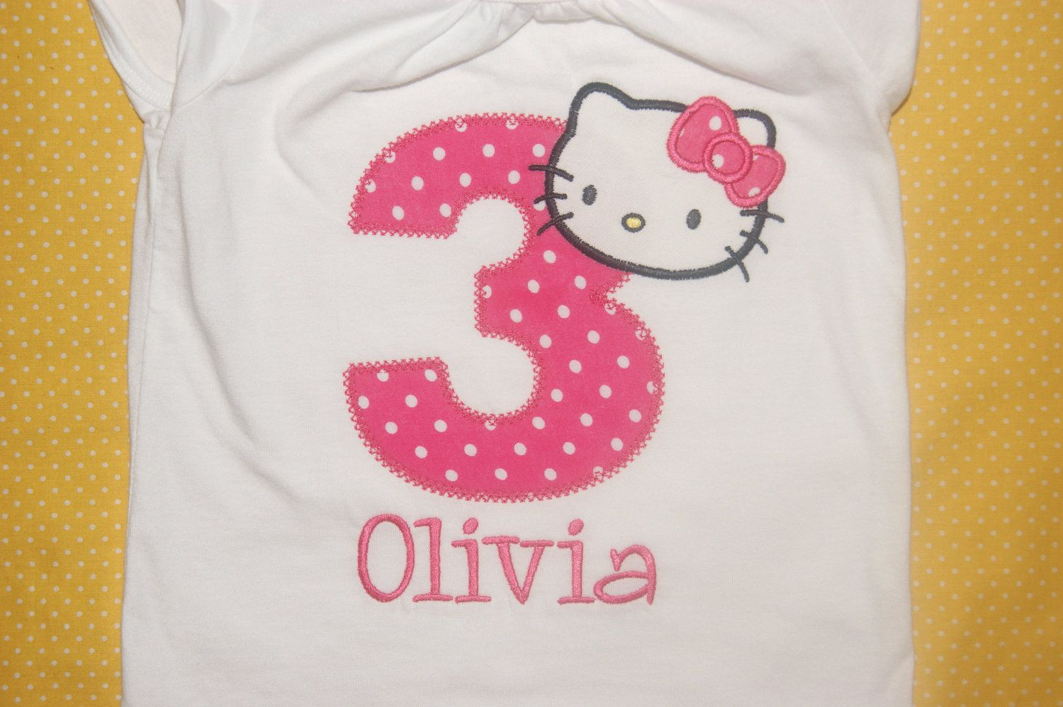 Personalized hello kitty birthday shirt 1st 2nd 3rd embroidered