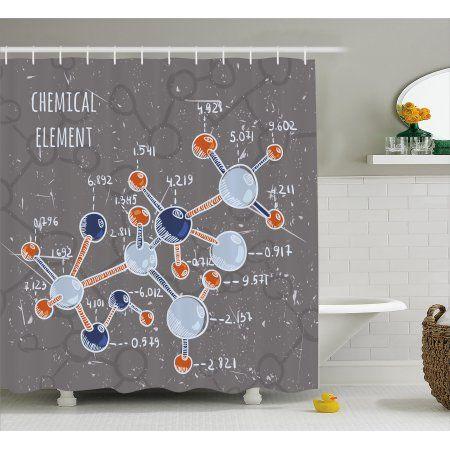 grunge shower curtain chemistry
