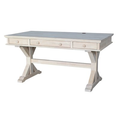 Darby Home Co Cheever Solid Wood Computer Desk Color Unfinished
