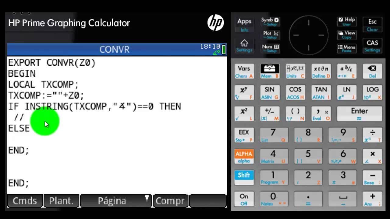 HP PRIME : CONVERSIÓN DE POLAR A RECTANGULAR Y VICEVERSA