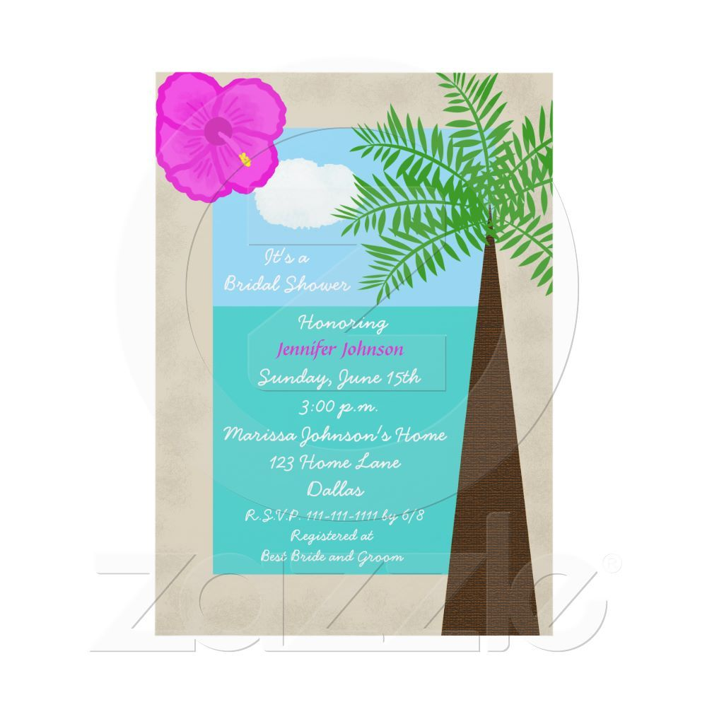 bridal shower invitation pictures%0A Tropical Bridal Shower Invitation  Tropical Days
