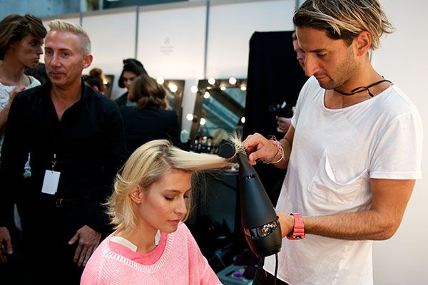 Backstage with ghd at Talulah at Australian Fashion Week - hair created by Joey Scandizzo #fashion #hair