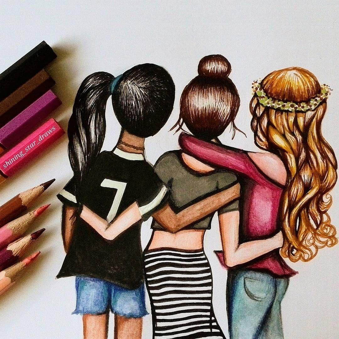 лучшие друзья картинки как нарисовать кто его помнит