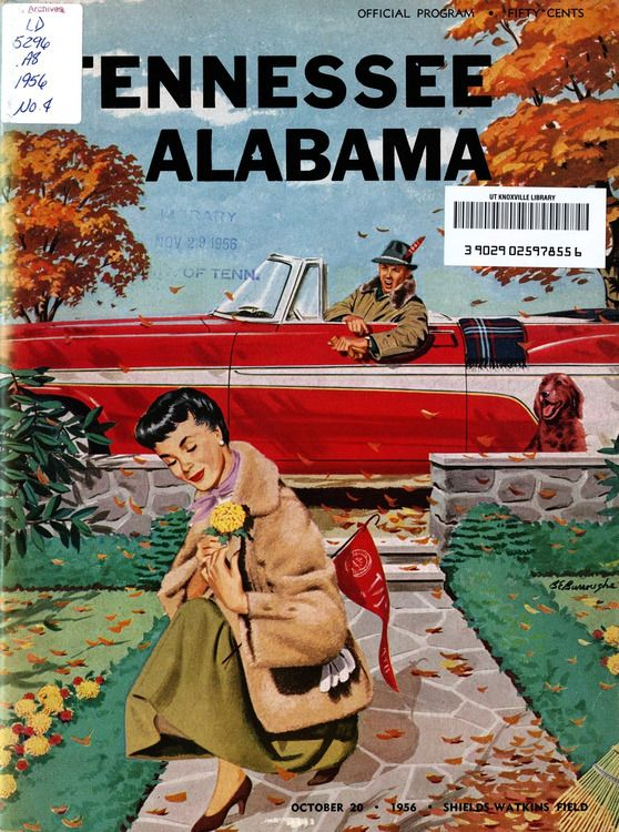 UT vs. Alabama (October 20, 1956) Vintage football