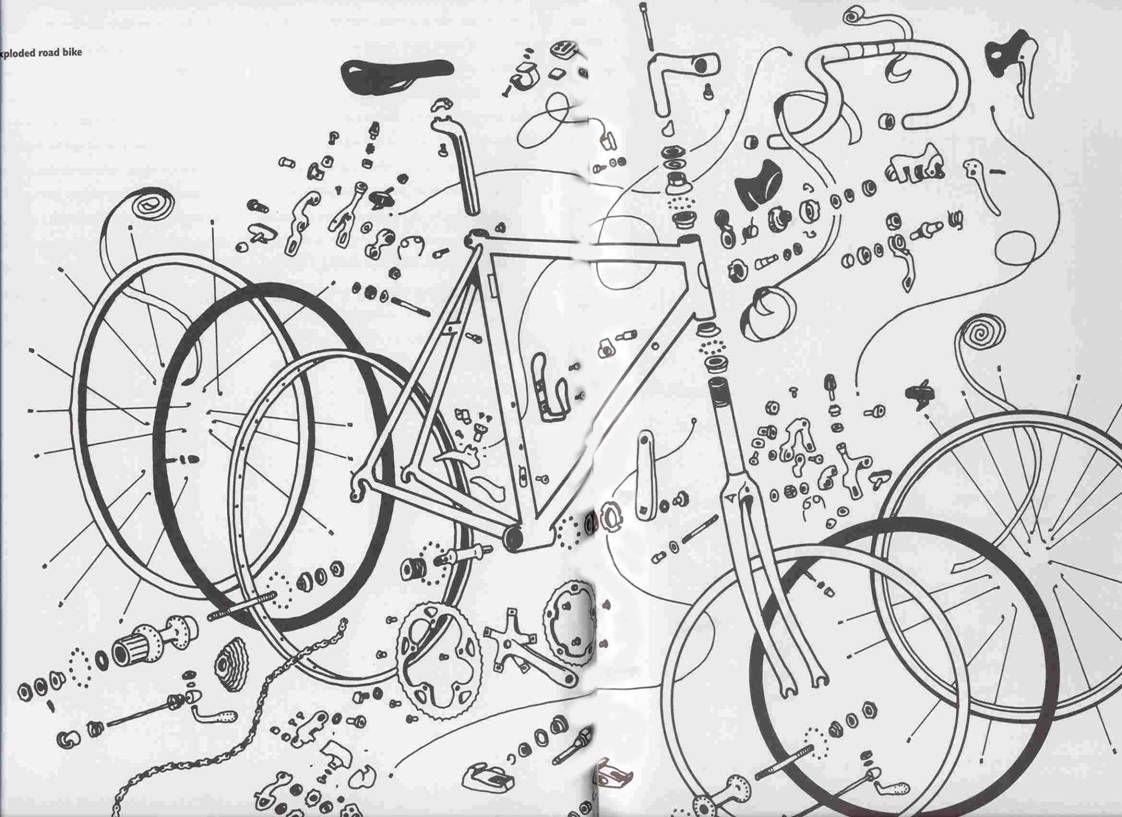 Bicycle Components Design Velo Vintage Velo Idees Pour La Maison