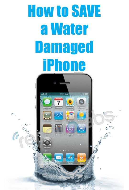 How To Save A Water Damaged Iphone Hint Rice Really