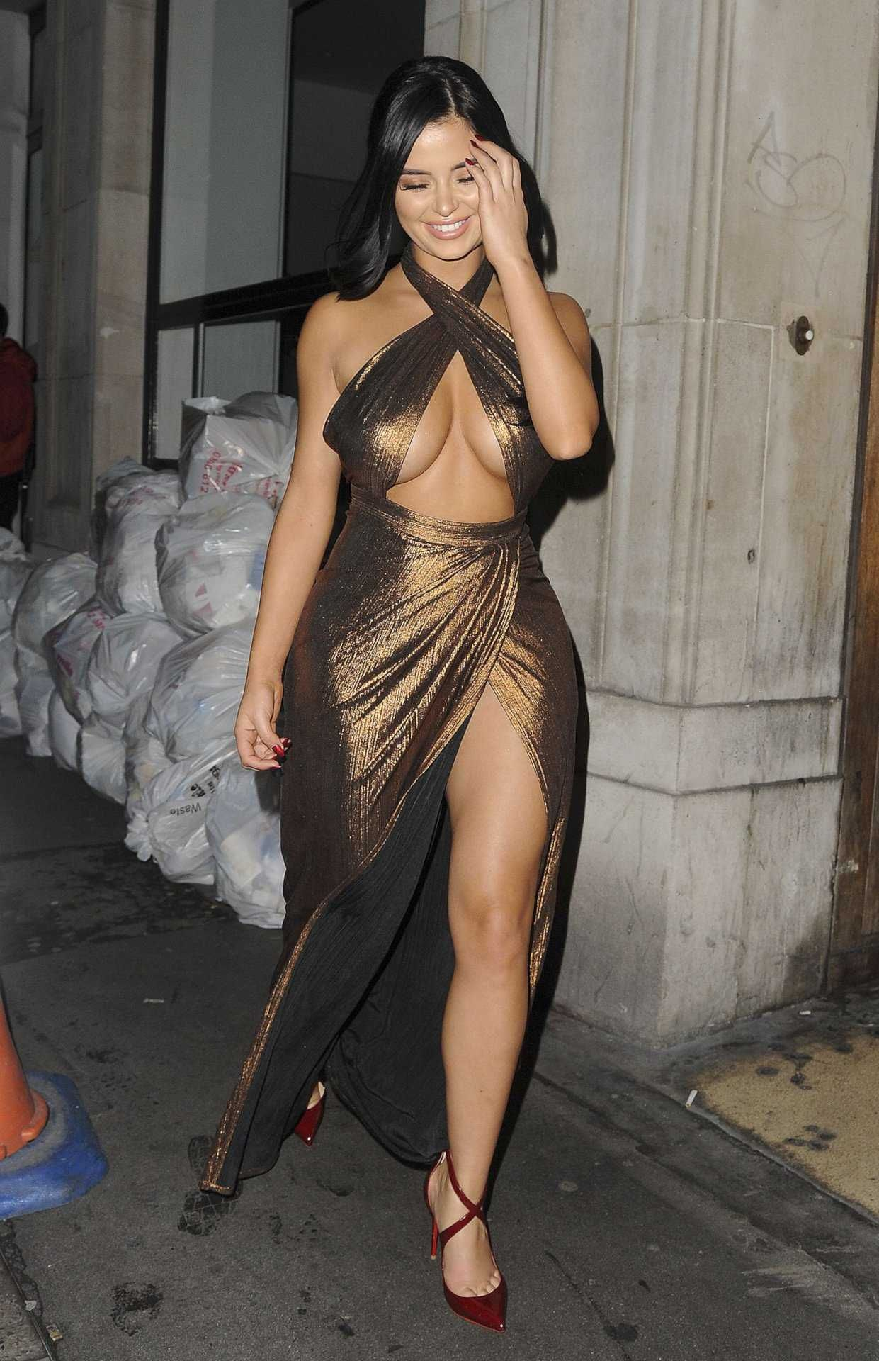 braless #demirose #london demi rose mawby braless out in london