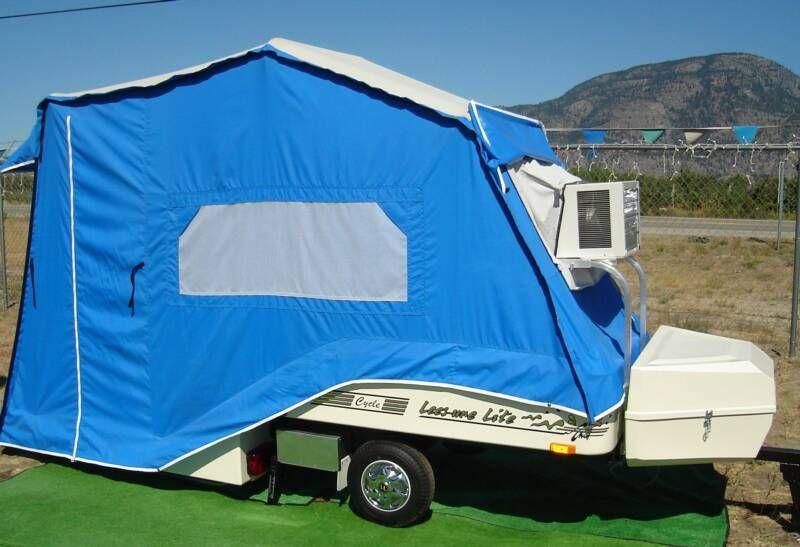 Lee-sure Lite pop-up tent trailer. Ours is burgundy.   Pop ...