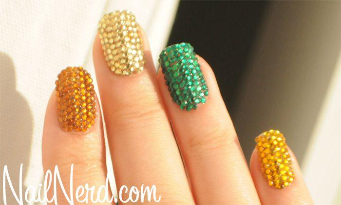 Acrylic Nail Designs With Rhinestones Rhinestone Nails Nail