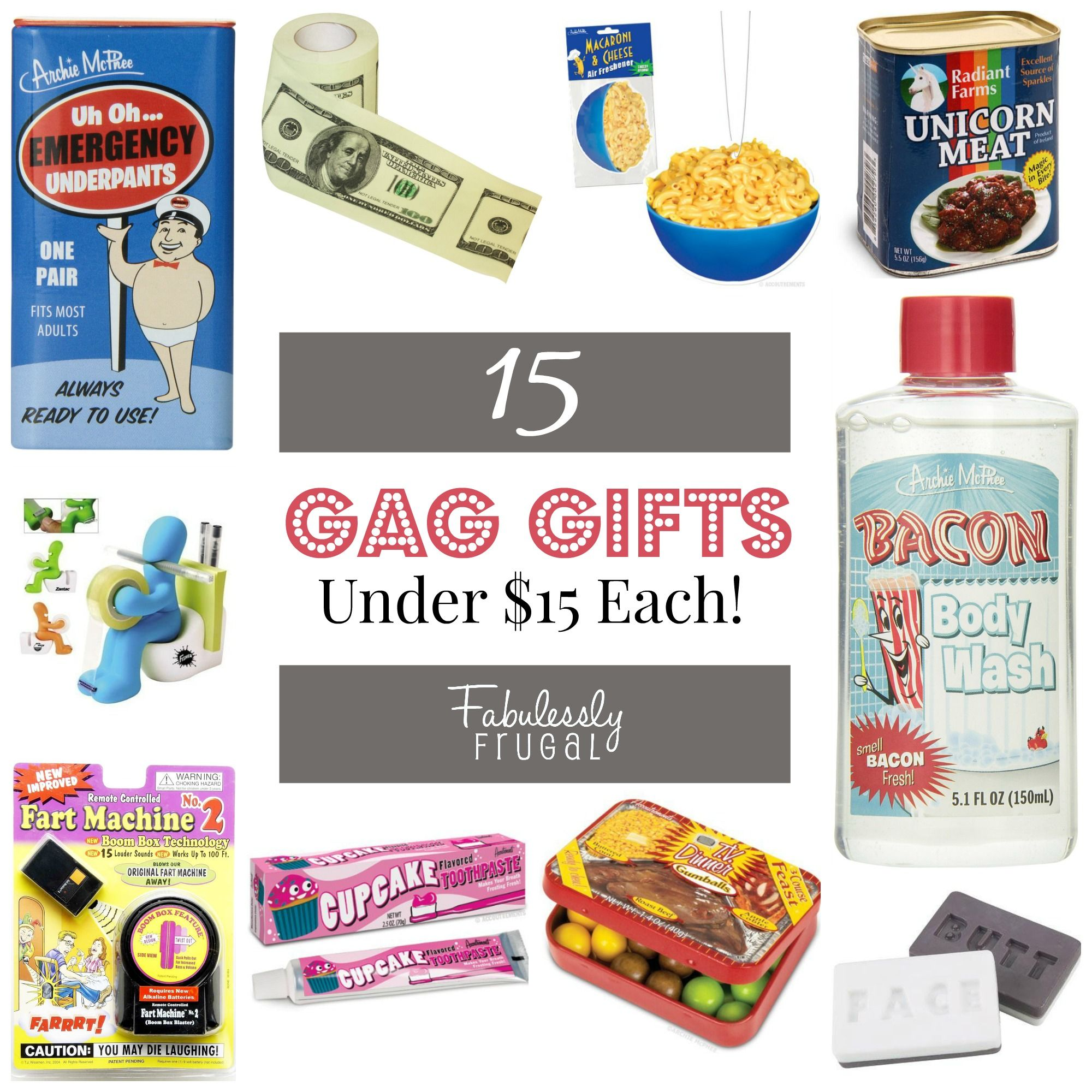 15 Funny Gag Gifts Under $15 Each! | Gift Ideas | Pinterest | Gifts ...