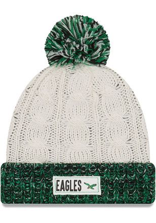 brand new 24819 dee74 New Era Philadelphia Eagles Brown Rugged Tag-Historic Knit Hat