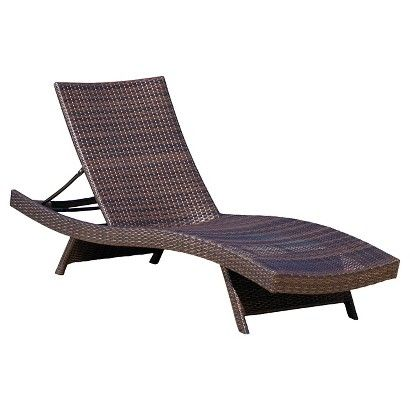 Christopher Knight Home Toscana Wicker Patio Lounge - Brown