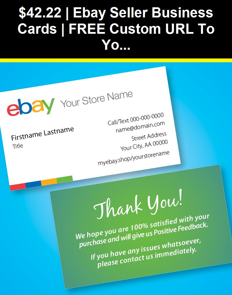 Paper Crafts 160666 Ebay Seller Business Cards Free Custom Url To Your Ebay Store Free Ship Buy It Now Free Business Cards Ebay Seller Business Cards