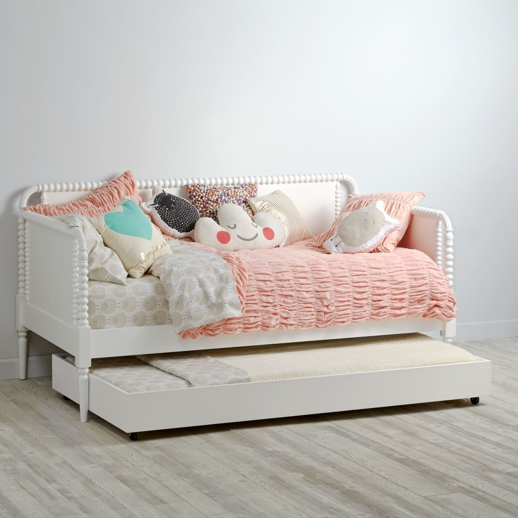 White Jenny Lind Trundle Bed Crate And Barrel White