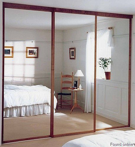 Mirrored Sliding Closet Doors Wow That Trim Makes The Mirrors Look So Much Better Mirror Wall Bedroom Mirror Closet Doors Sliding Mirror Closet Doors