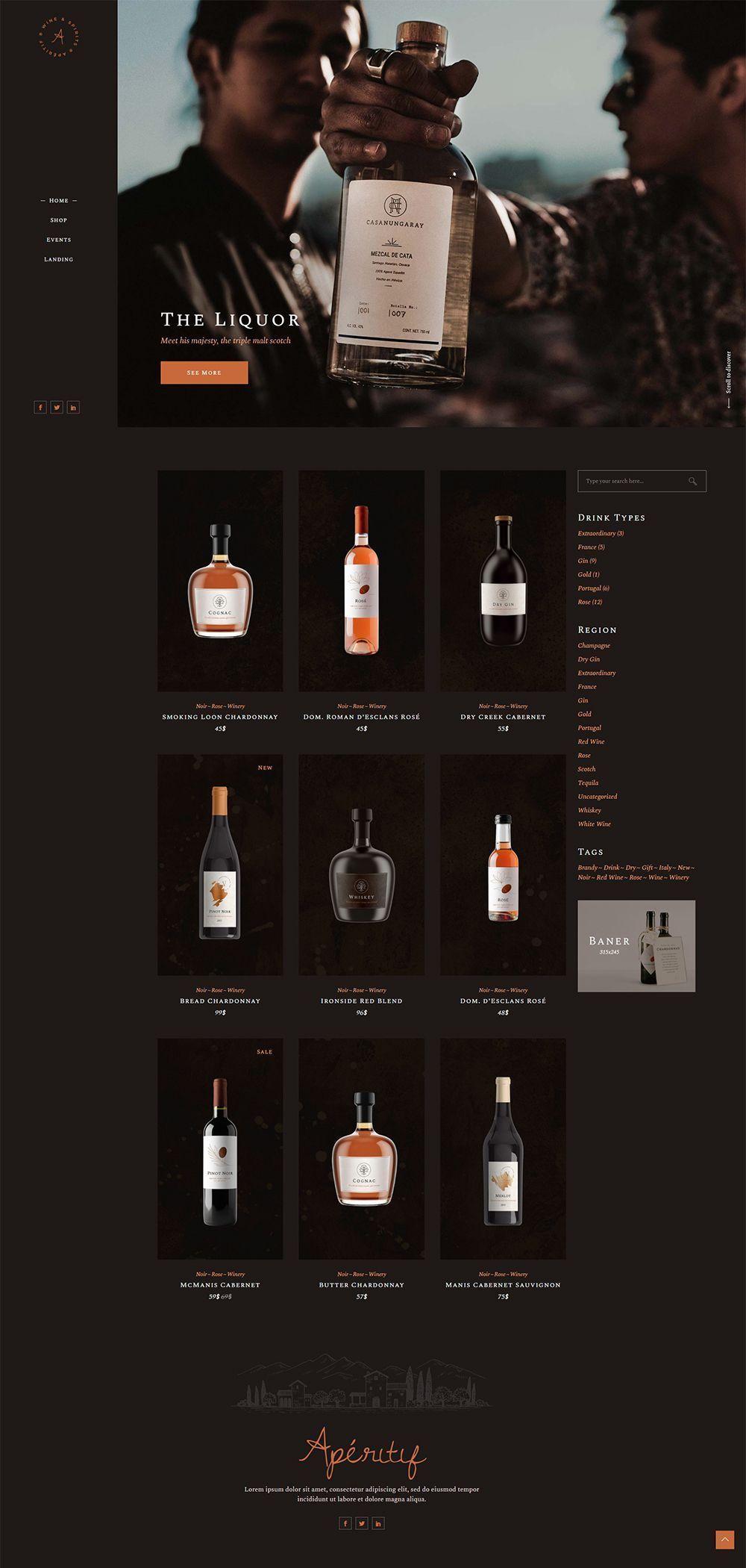 Aperifit Liquor Store in 2020 Liquor store, Online