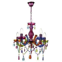 A 5 Light Multi Coloured Chandelier Souk Range Available To Now From Socket