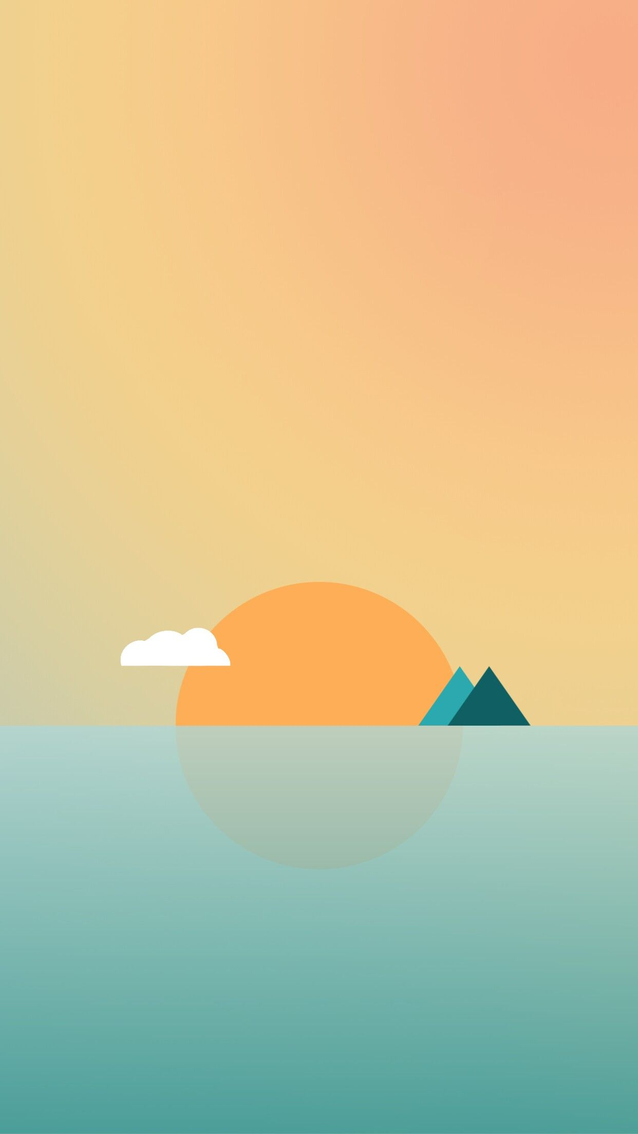 Sun Minimal Simple Iphone Wallpaper Simplistic Wallpaper Minimalist Wallpaper