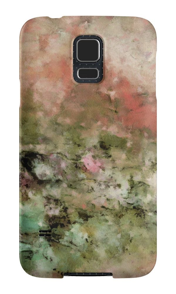 """Abstract art coral green"" Samsung Galaxy Cases & Skins by floraaplus 
