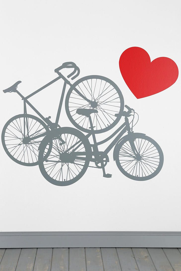 Urban outfitters blik bike love wall decal