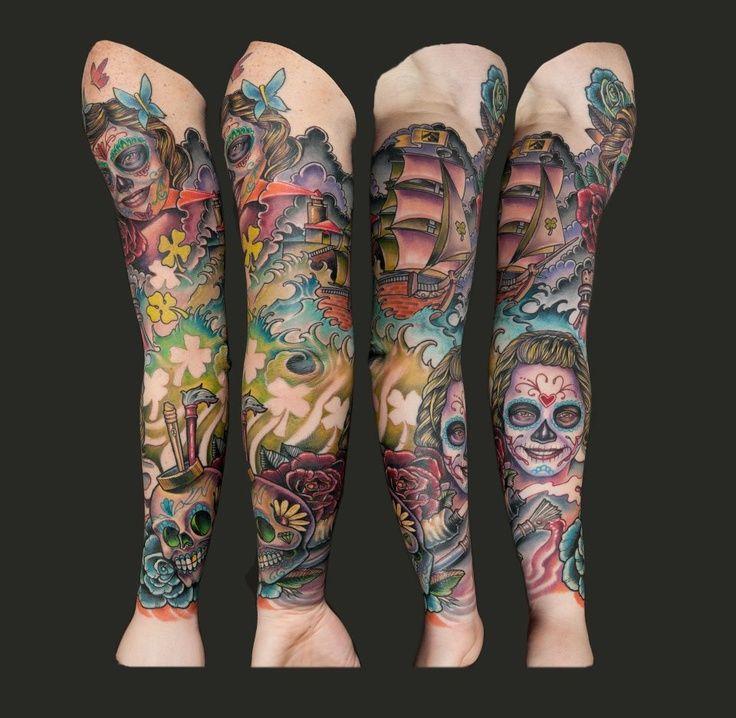 mexican tattoo sleeves - Szukaj w Google   Tattoo   Mexican tattoo