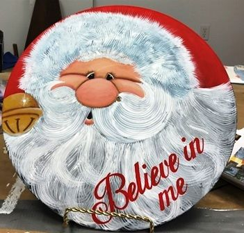 I made this santa today on a record Album