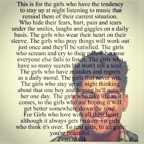 One Direction Fan Art: Zayn Quotes♥