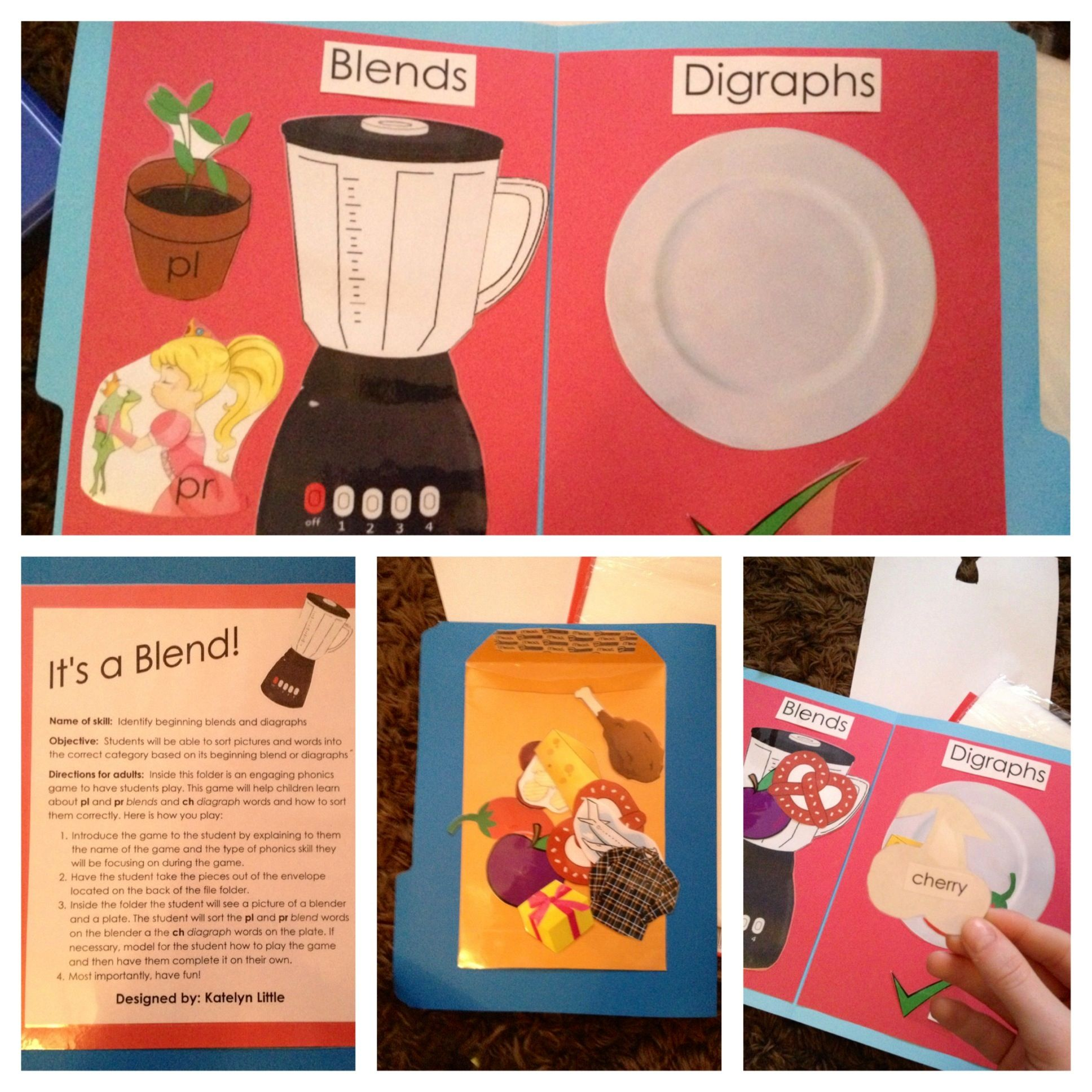 Pl And Pr Blends And Ch Digraphs File Folder Game It S A