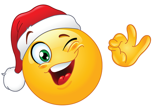 Winking Santa Smiley | Emojis | Pinterest | Emoticon, Lächeln und ...