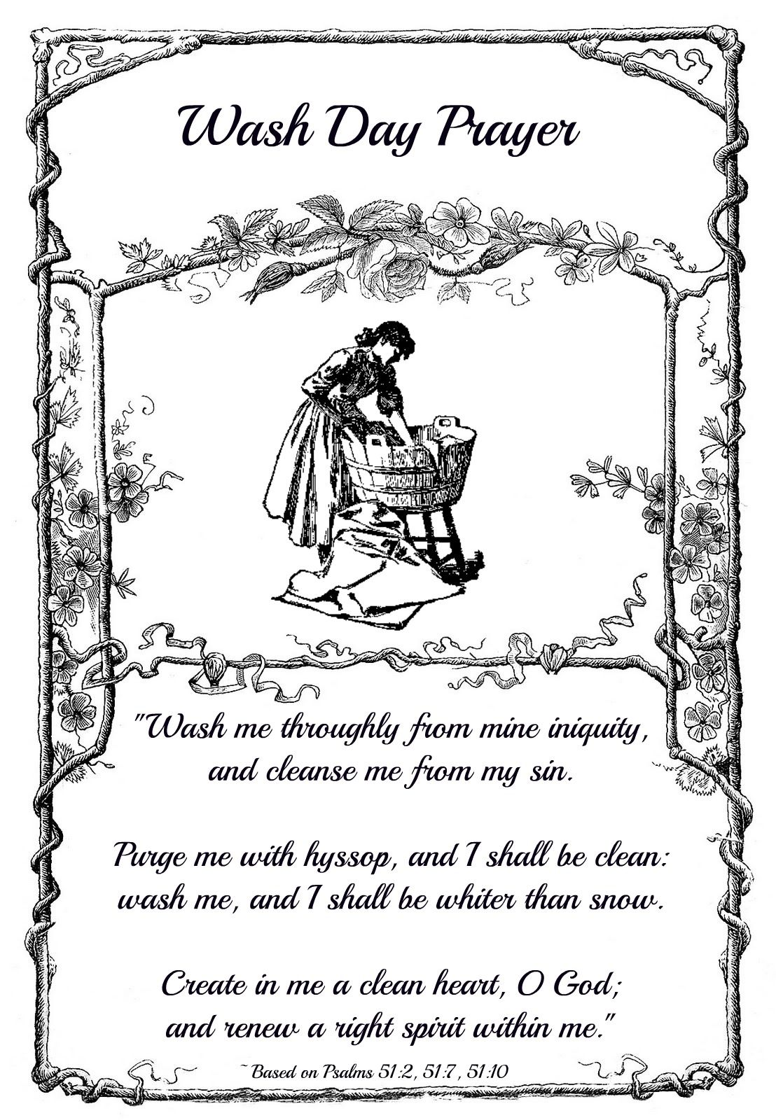 Wash Day Prayer Free Inspirational Printable With Images