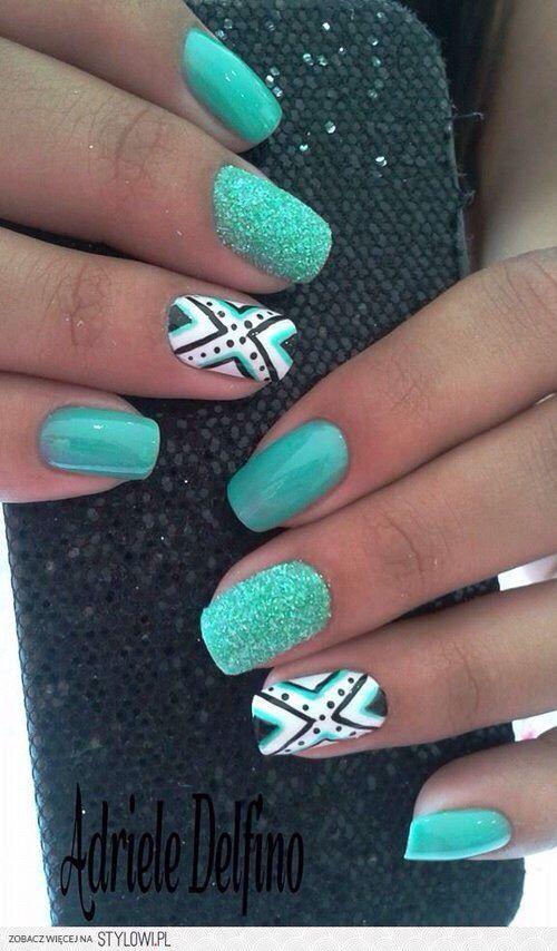Nail Art Ideas! ❤ | nail desins | Pinterest | Feather nail art ...