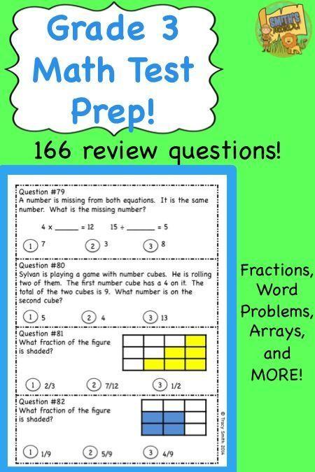 Grade 3 Math Test Prep Get Ready For Standardized Testing Math Test Prep Math Test 3rd Grade Math