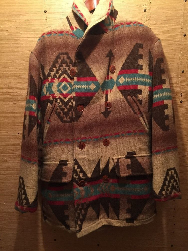 Vintage Polo Country Ralph Lauren Aztec Indian Blanket